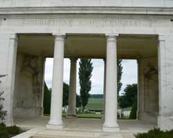 Guillemont Cemetery gate