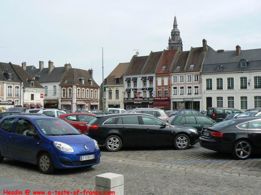 Market square in Hesdin