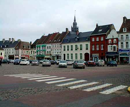 hesdin town square picture