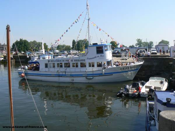Boat trip Honfleur Normandy