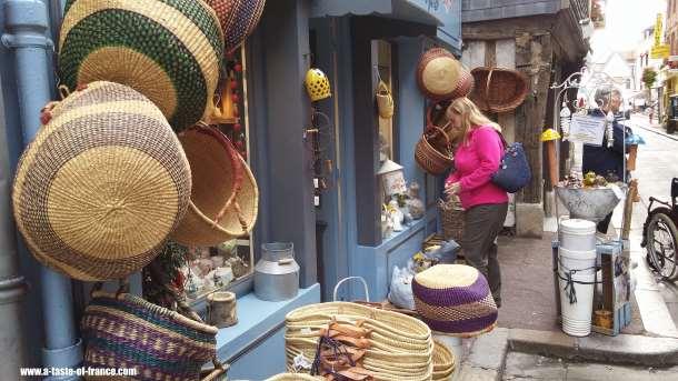 Honfleur shops Normandy