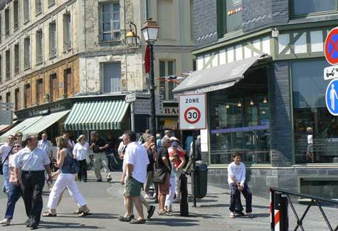 Honfleur street Calvados Normandy