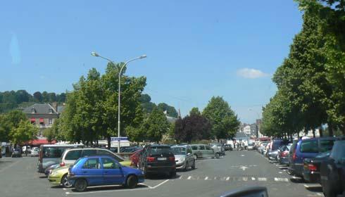 Honfleur car park France Calvados Normandy