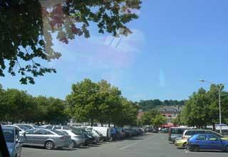 Honfleur car park Normandy