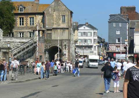 Honfleur Normandy town centre