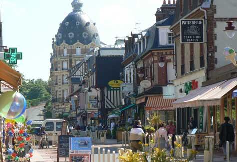 Houlgate street France Calvados  Normandy