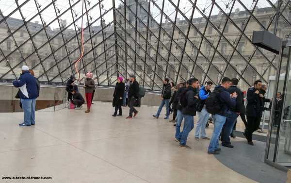 Inside the Louvre pryamid Paris France picture
