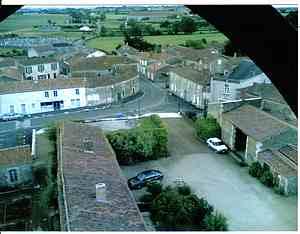 The village of Bazoges en Pareds