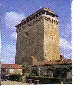 The village of Bazoges en Pareds the tower