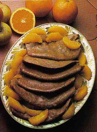 liver cooked in orange juice