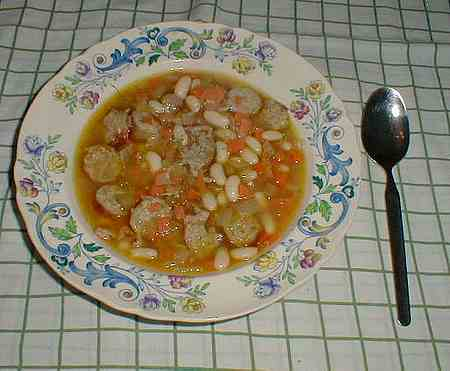 picture of sausage and bean soup recipe