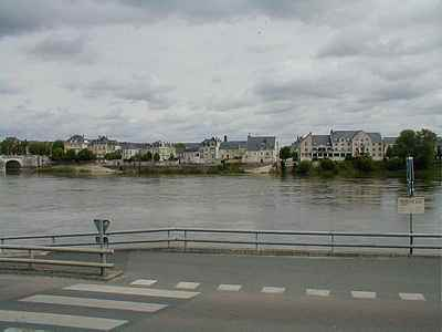 The town of Saumur France Loire region
