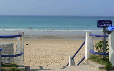 Jullouville beach Manche Normandy