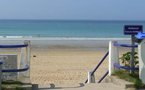 Jullouville beach Manche Normandy