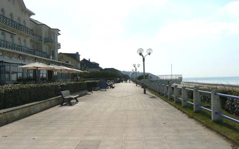 Jullouville sea front Manche Normandy