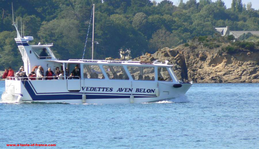 Ferry on the river Belon Brittany