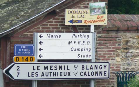 Le Mesnil sur Blangy sign Normandy