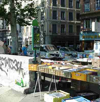 Lyon street market picture