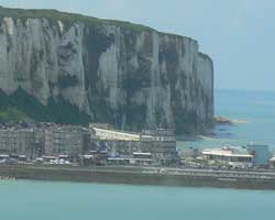 The chalk cliffs