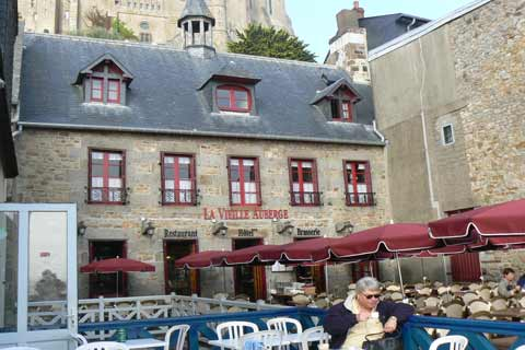 Le Mont Saint Michel cafe Manche Normandy