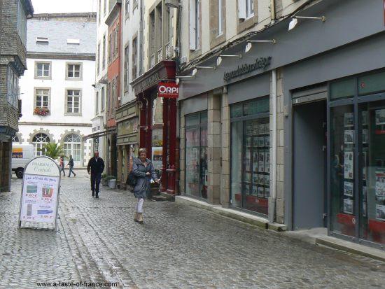 Morlaix street Brittany
