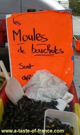 moules for sale in Roscoff picture