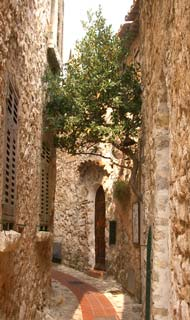 street in village of Eze