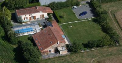 Ariel view of the property.