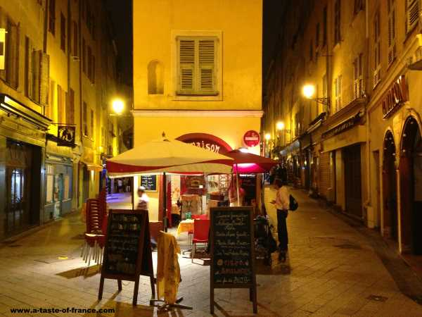 A cafe in the city of Nice South of France picture