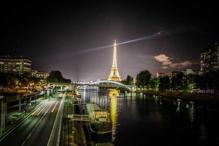 Paris at night France