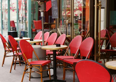 paris street cafe france