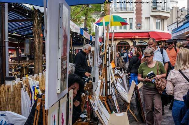 montmartre Artist street picture