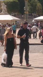 Paris people walking