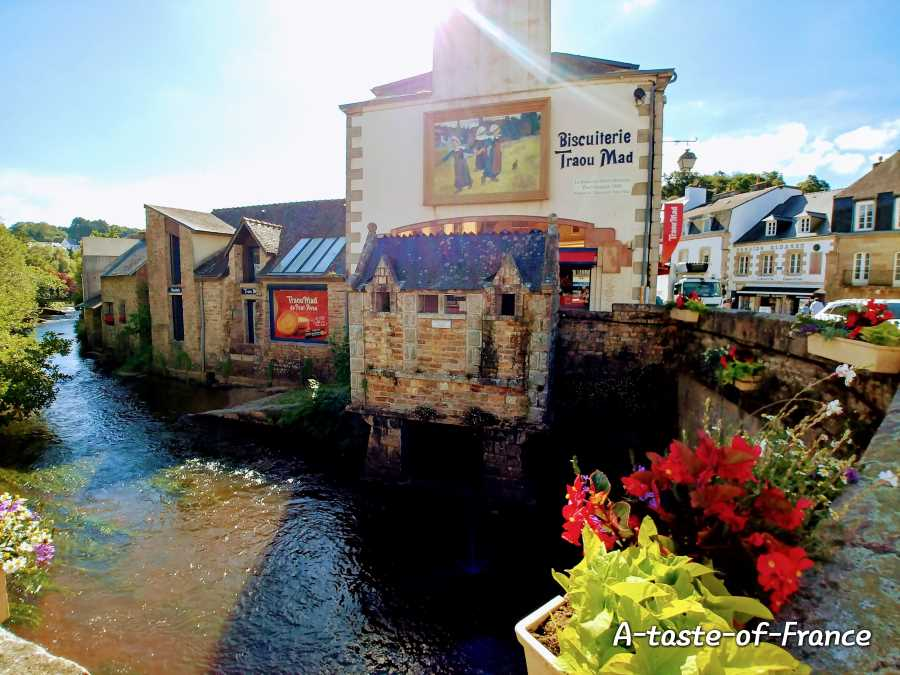 the town of Pont Aven in Brittany France