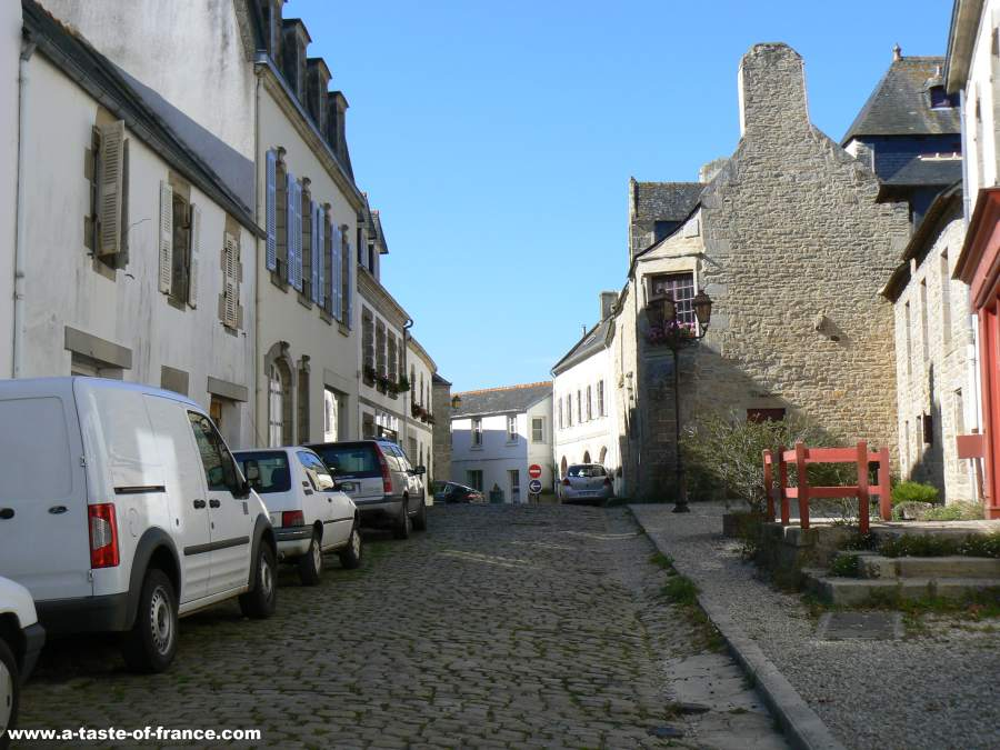 the town of Pont Croix in Brittany France