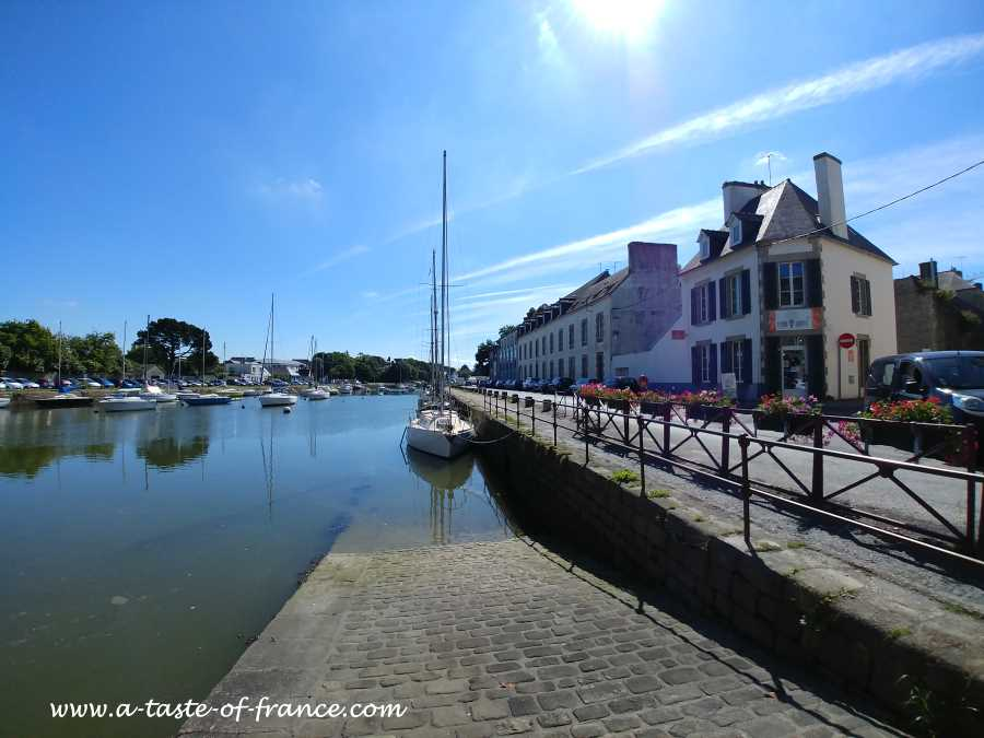 the town of Pont l'Abbe in Brittany France