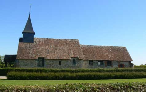 Quilly Le Vicomte church Calvados  Normandy