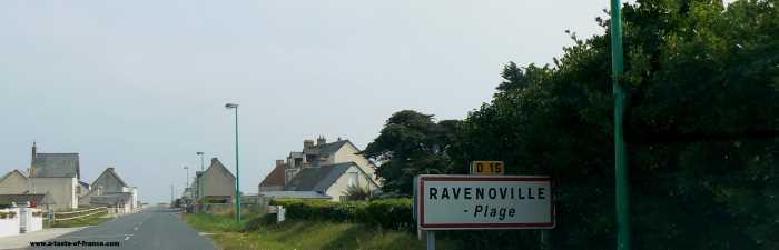 Ravenoville Plage  village in Normandy