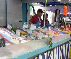 Roscoff fish stall
