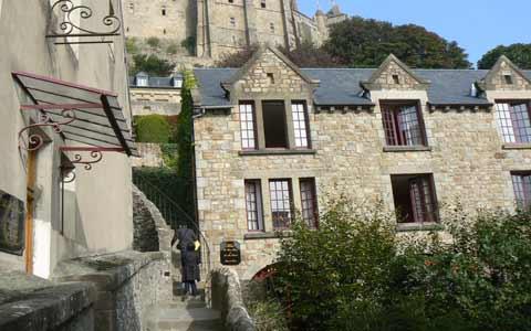Le Mont Saint Michel steps la Manche  Normandy