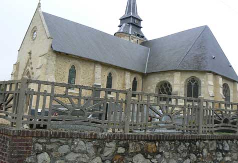 Saint Philbert des Champs church Normandy