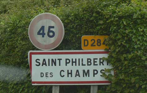 Saint Philbert des Champs sign Normandy