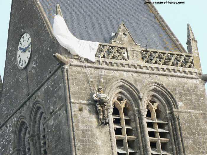 Sainte Mere Eglise  village in Normandy