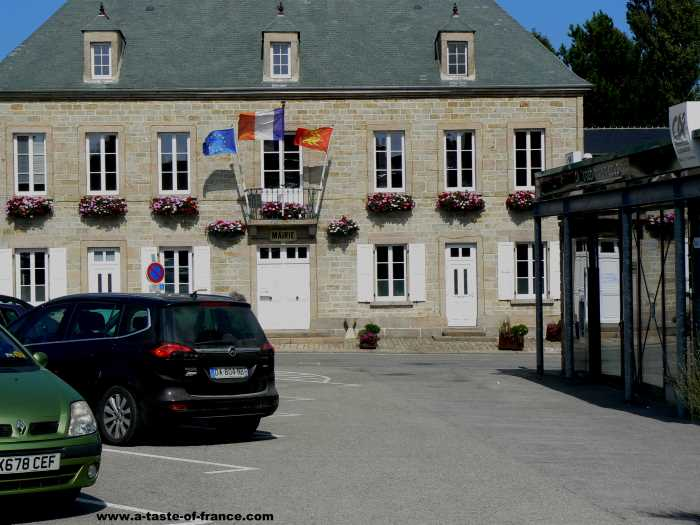 St Pierre Eglise  village in Normandy