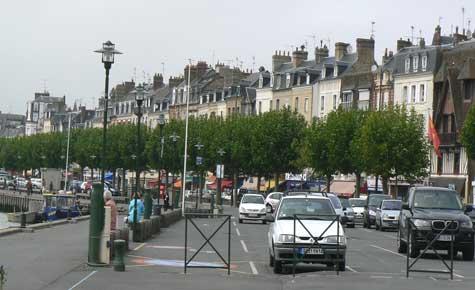 Trouville sur Mer car park Calvados  Normandy