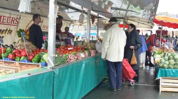 Roscoff veg stall