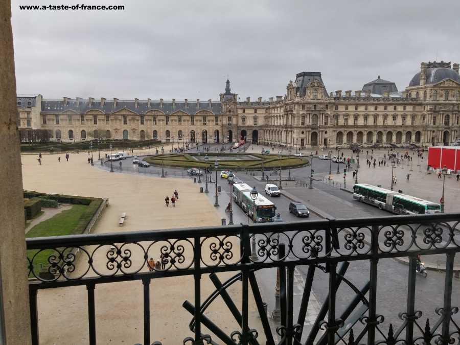 view form the Louvre Paris France