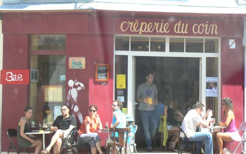 Villerville cafe Calvados Normandy