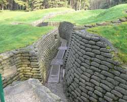Vimy ridge trench picture