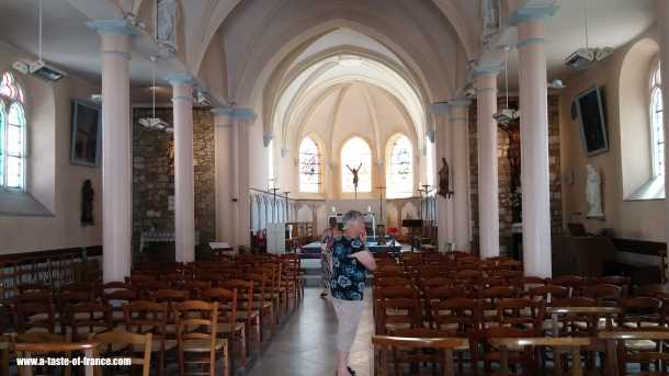 Wissant church France picture
